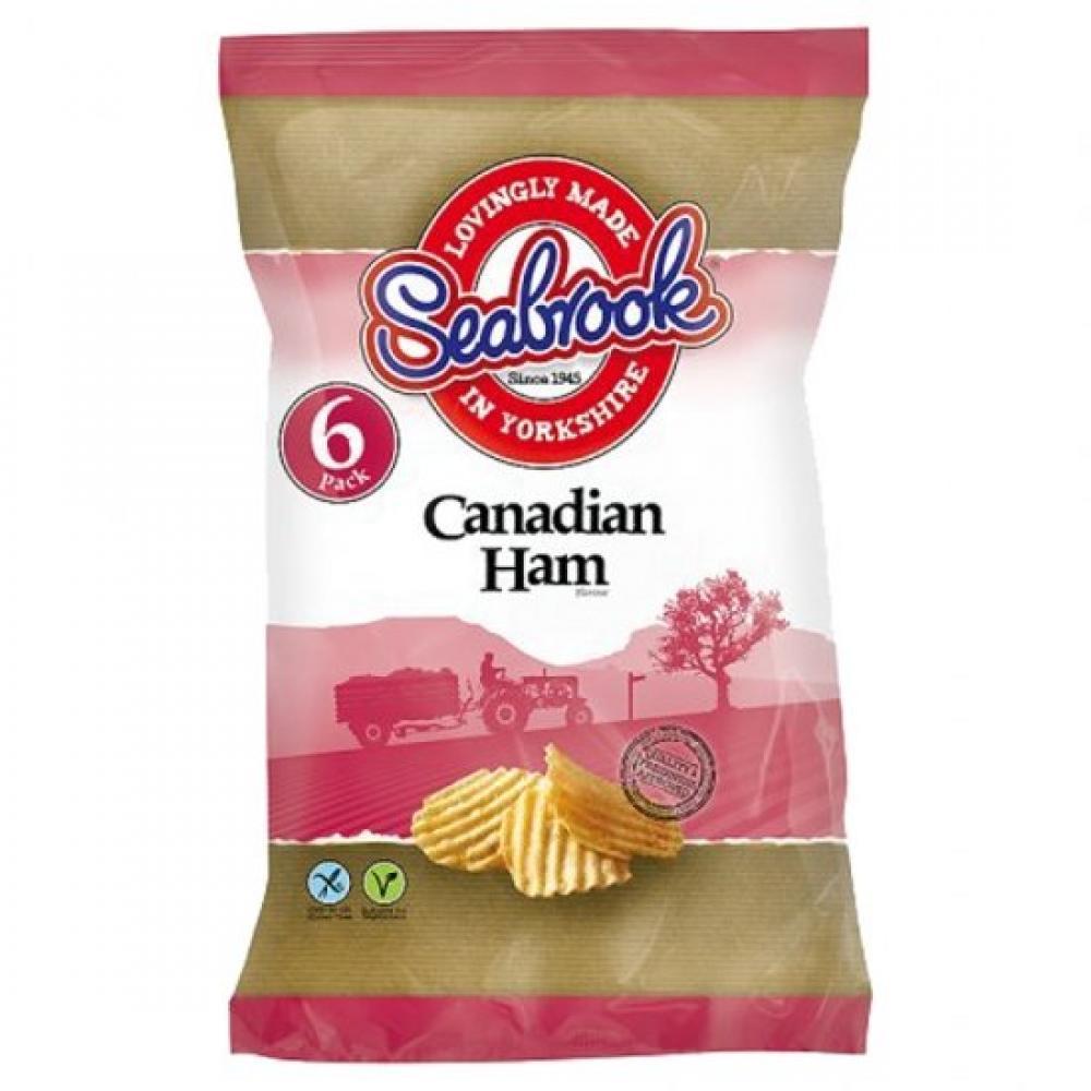 Seabrook Canadian Ham Flavour Crisps 25g x 6