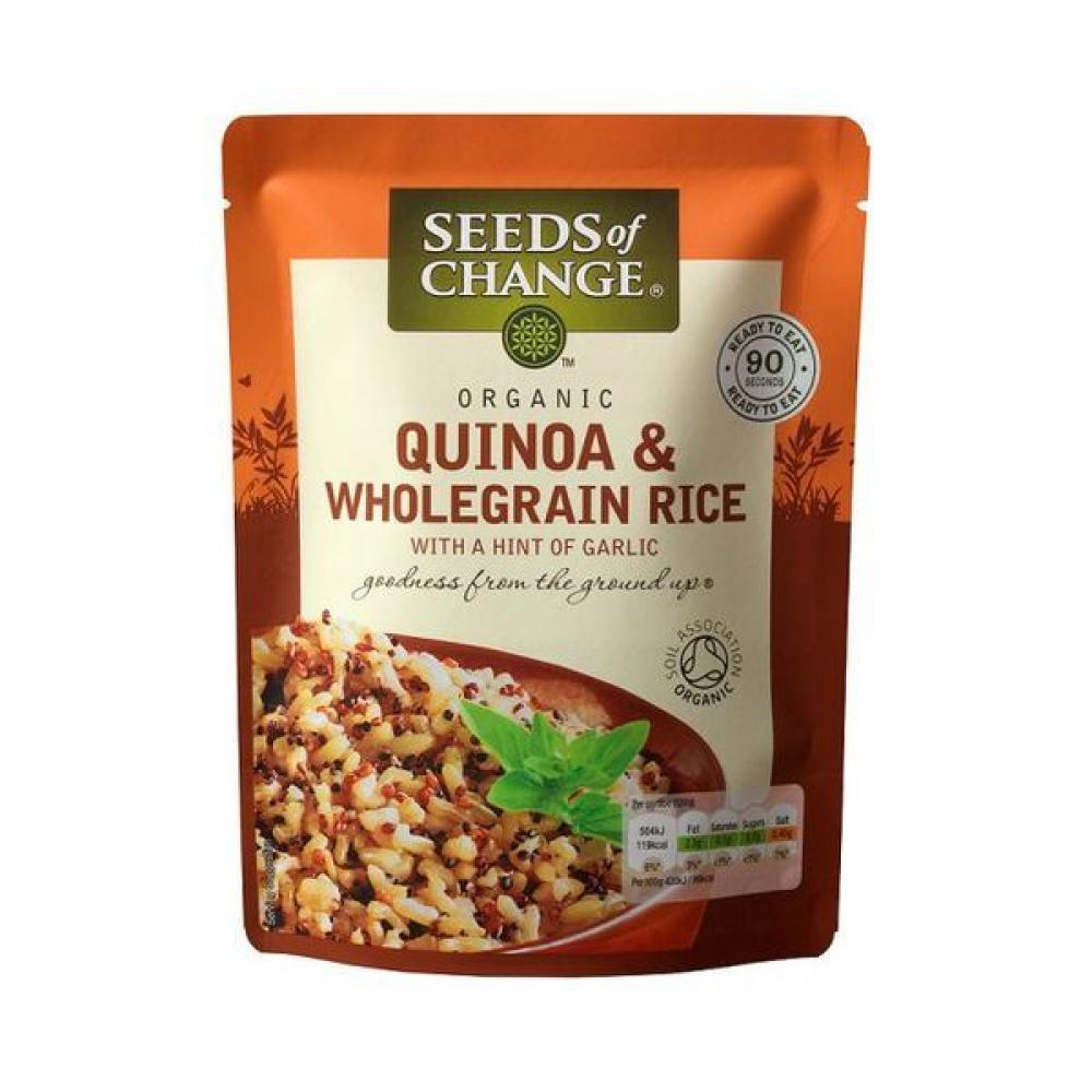 Seeds of Change Organic Quinoa and Wholegrain Rice with a Hint of Garlic 240g