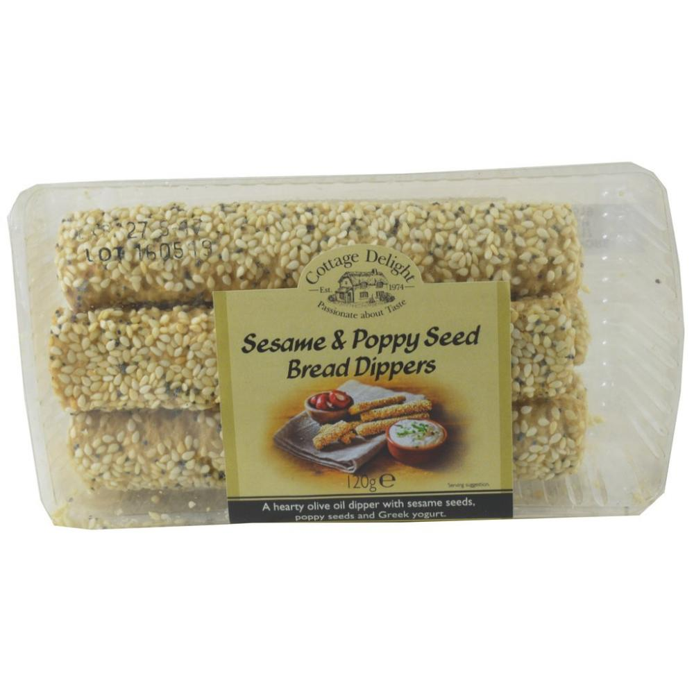 FURTHER REDUCTION  Cottage Delight Sesame And Poppy Seed Bread Dippers 120g
