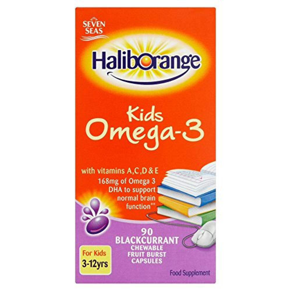 Seven Seas Limited Haliborange Kids Omega-3 Chewy Blackcurrant tablets 90