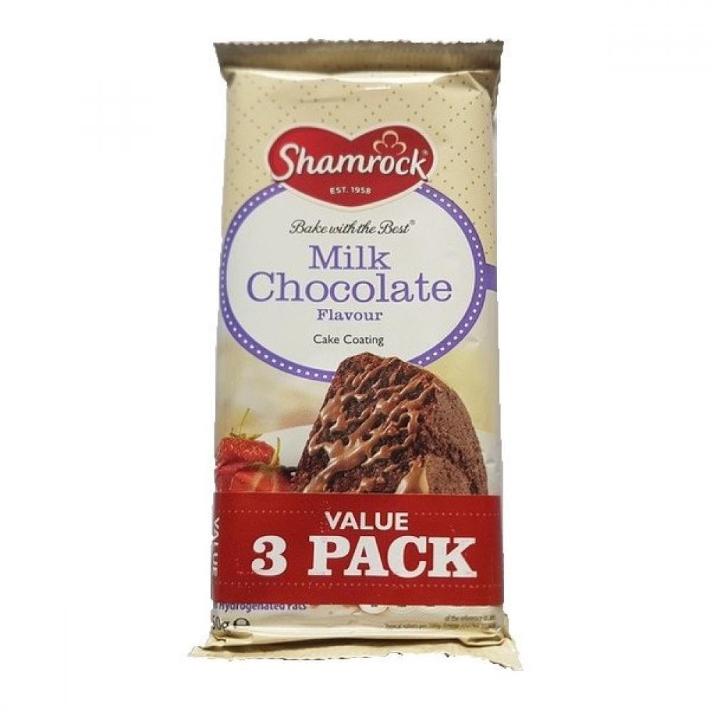 Shamrock Milk Chocolate Flavour Cake Coating 150g x 3