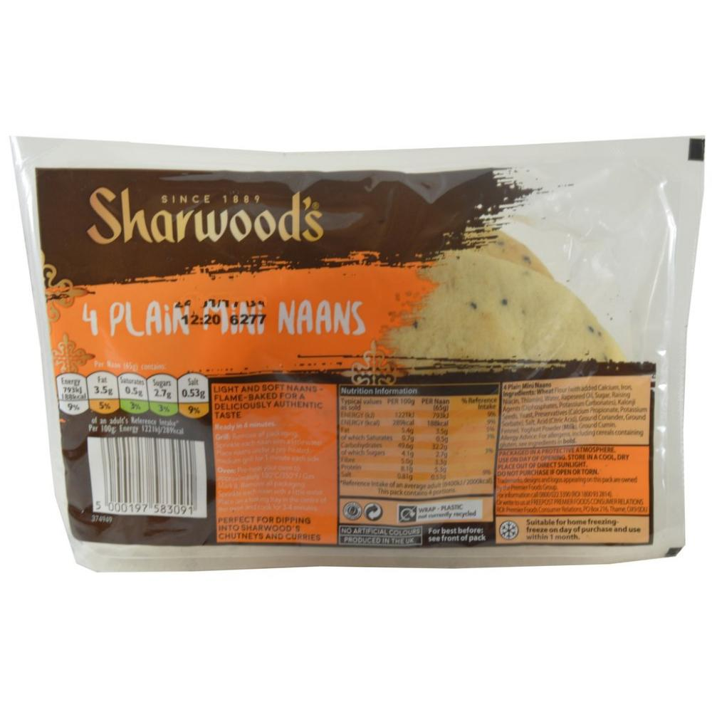 Sharwoods 4 Plain Mini Naans