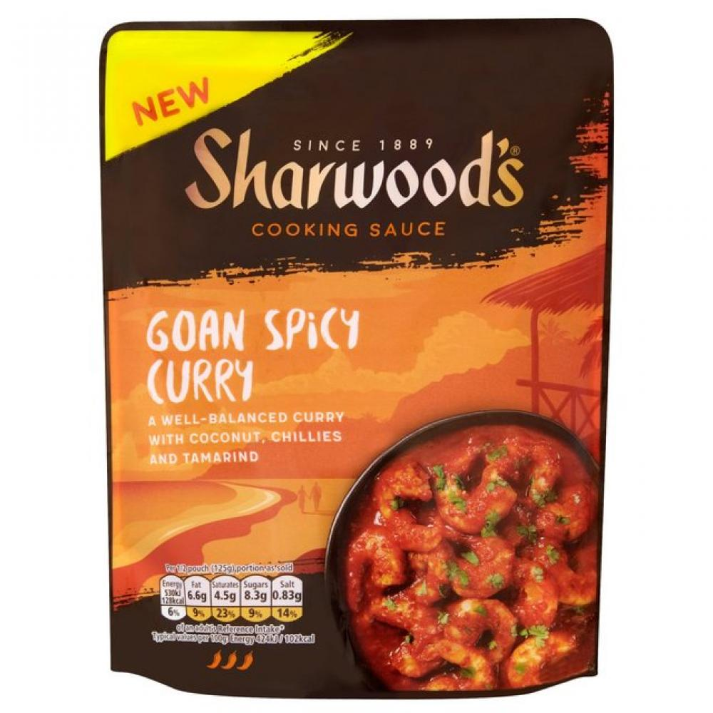 Sharwoods Goan Spicy Curry Cooking Sauce 250g