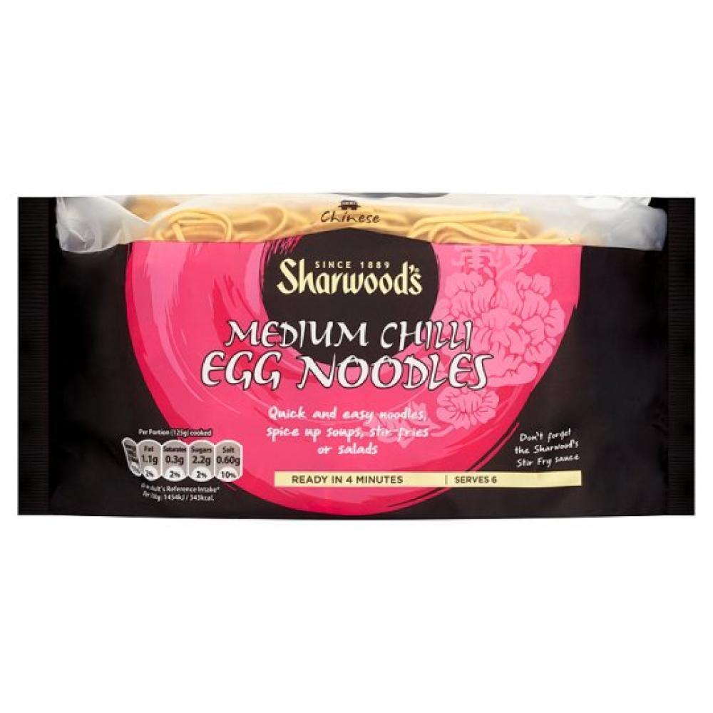 Sharwoods Medium Chilli Egg Noodles 375g