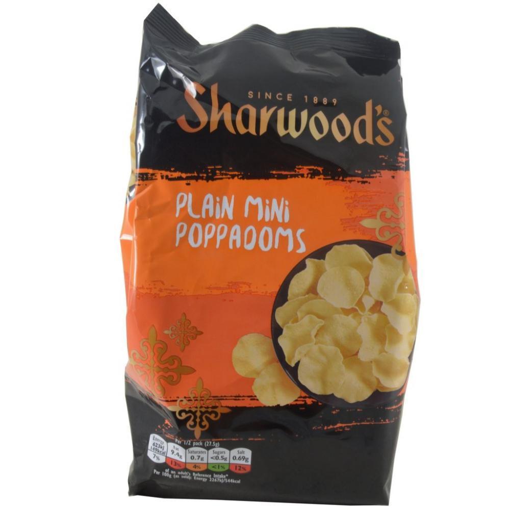 Sharwoods Plain Mini Poppadoms 55g
