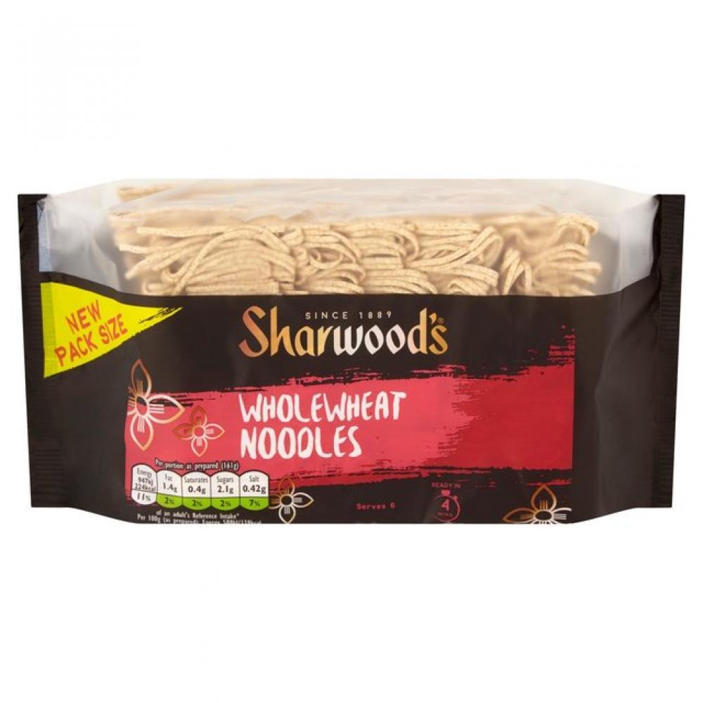 Sharwoods Wholewheat Noodles 375g