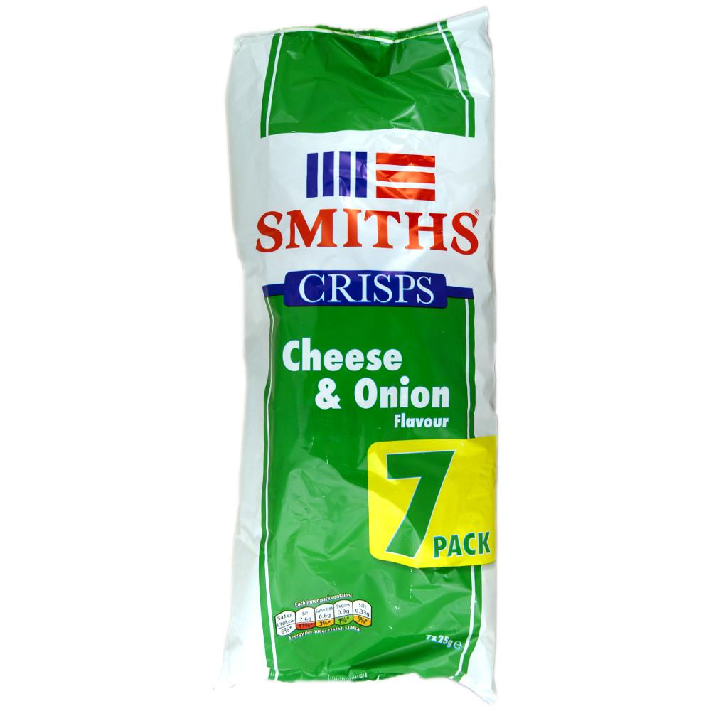 Smiths Cheese and Onion Flavour 25g x 7