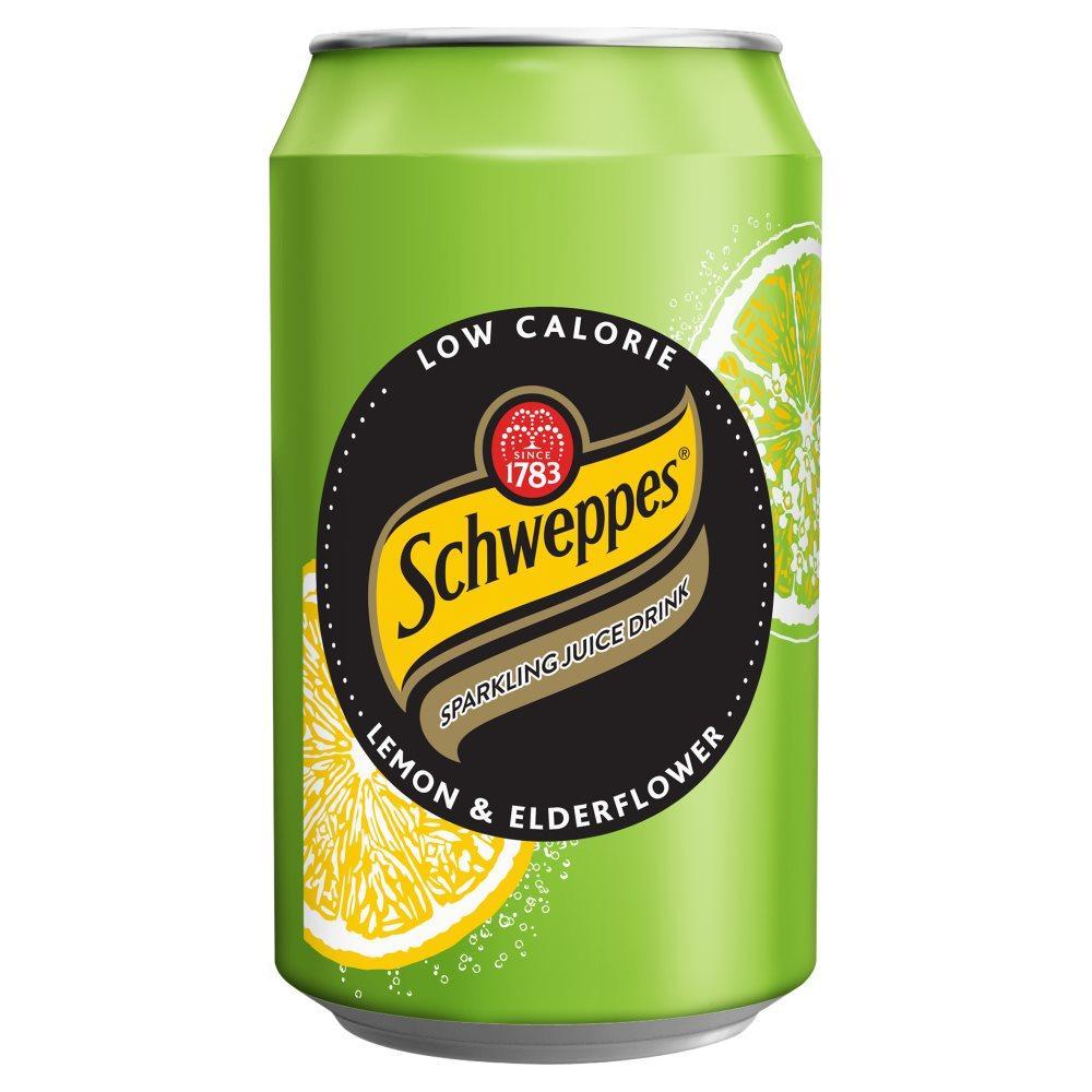 Schweppes Sparkling Juice Drink Lemon and Elderflower 330ml