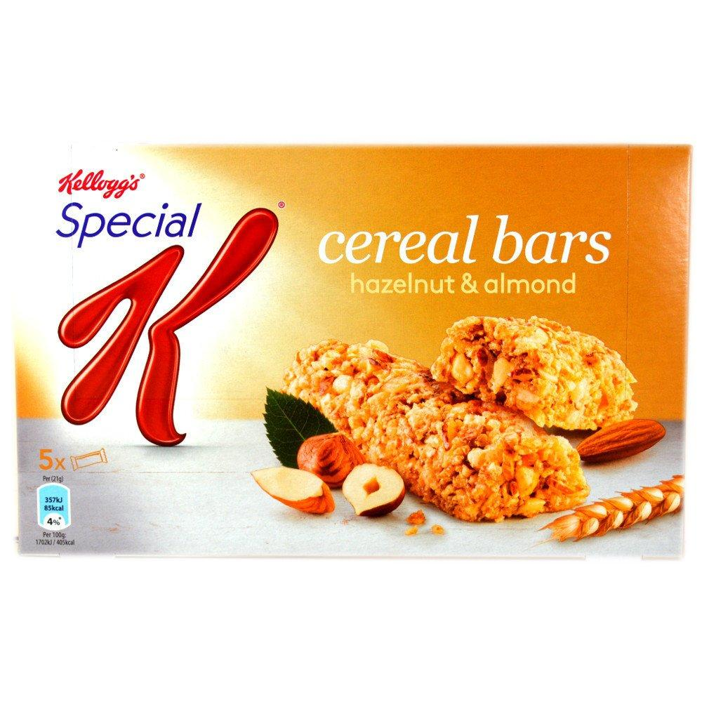 Kelloggs Special K Cereal Bars Hazelnut and Almond 5 x 21g