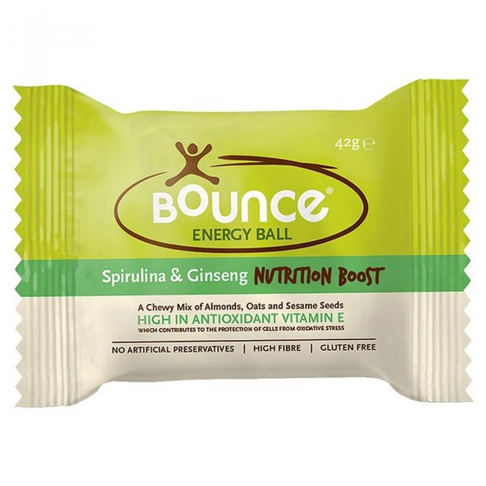 Bounce Spirulina and Ginseng Nutrition Boost Energy Ball 42g