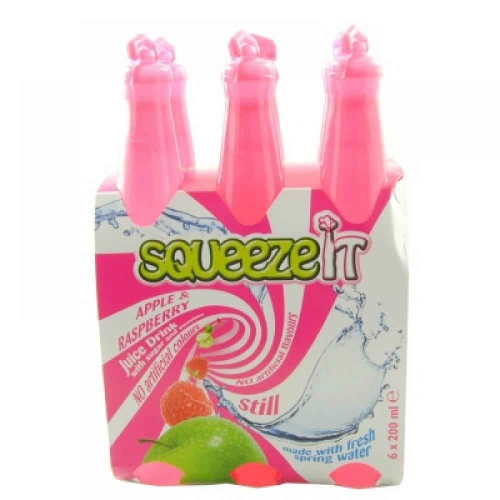 Squeeze It Apple and Raspberry Juice Drink 200ml x 6
