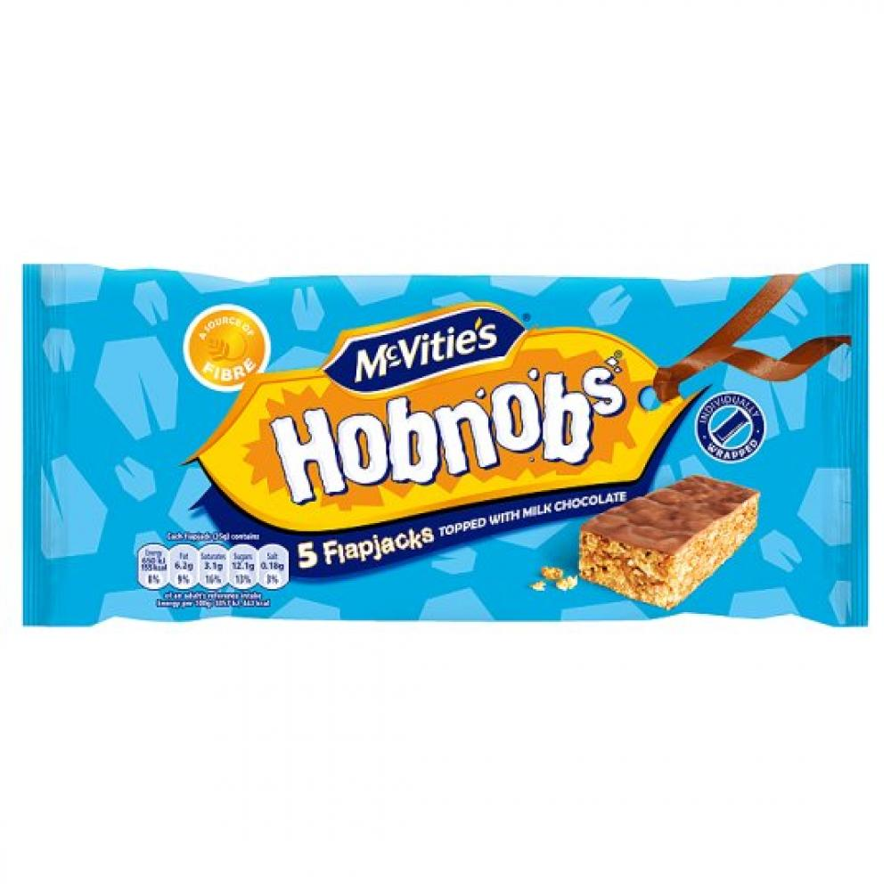 McVities Hobnobs Milk Choc Biscuit Flapjacks 5 Pack