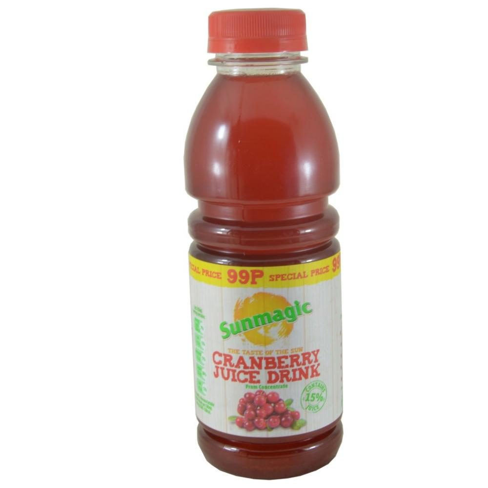 FURTHER REDUCTION  Sunmagic Cranberry Juice Drink 500ml