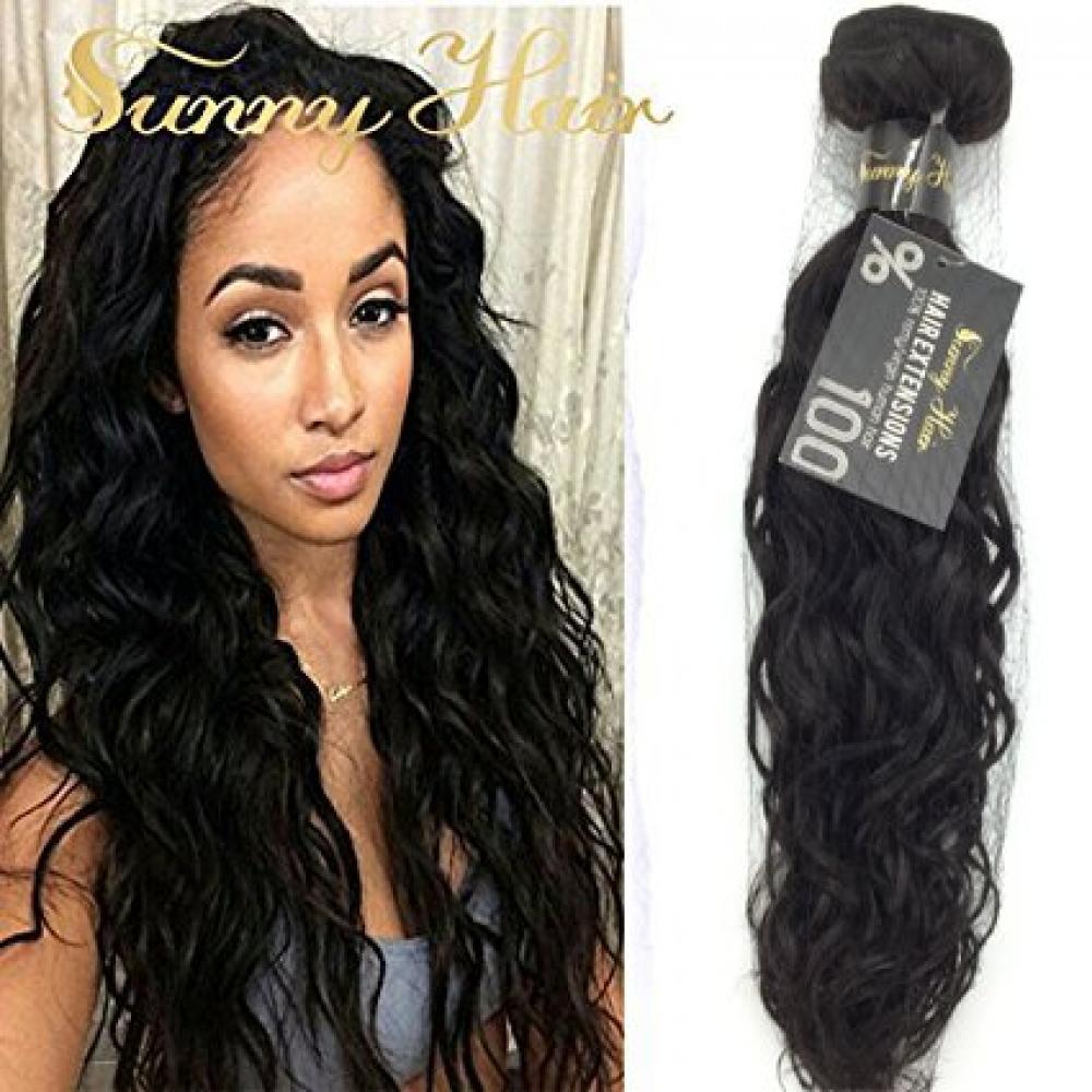 Sunny High Quality 1 Bundle 24 Brazilian Virgin Hair Weft Extensions