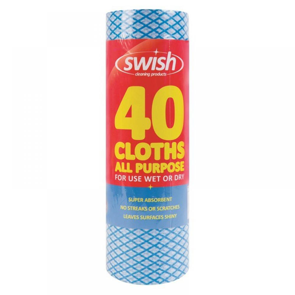 Swish All Purpose Cloth Roll 40 cloths