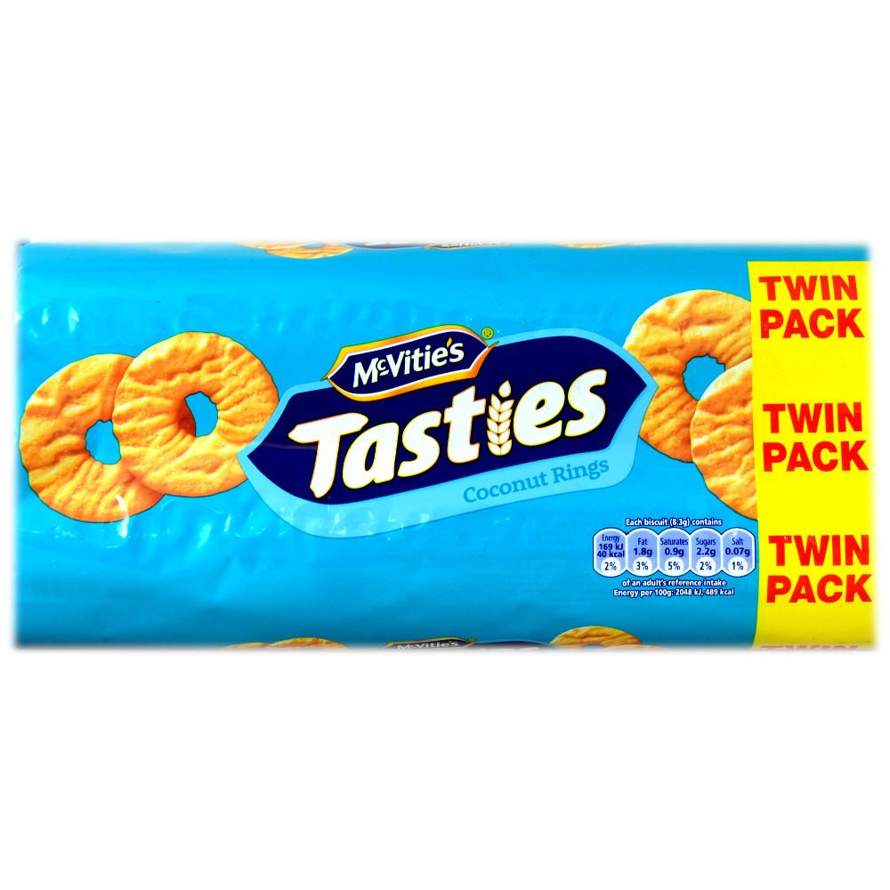 McVities Tasties Coconut Rings Twin Pack