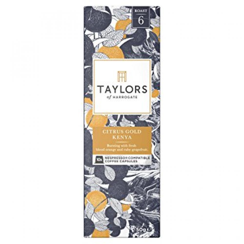 Taylors Of Harrogate Citrus Gold Kenya Nespresso Compatible Coffee 10 Capsules