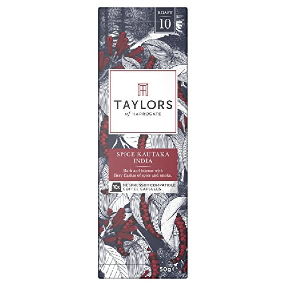 Taylors Of Harrogate Espresso Coffee Capsules Nespresso Compatible Spice Kautaka India 10 capsules