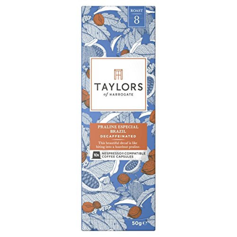 Taylors Of Harrogate Praline Especial Brazil Decaffeinated - 10 Capsules 50g