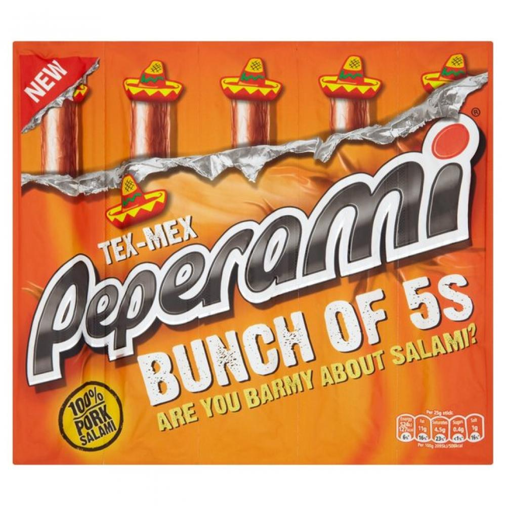 Peperami Tex Mex Multipack 5 x 25g