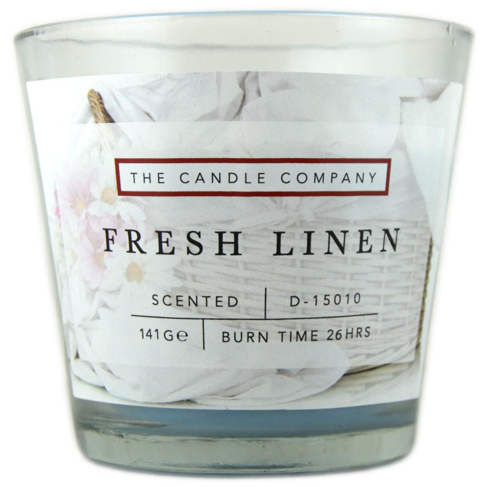 The Candle Company Fresh Linen Scented Candle 141g