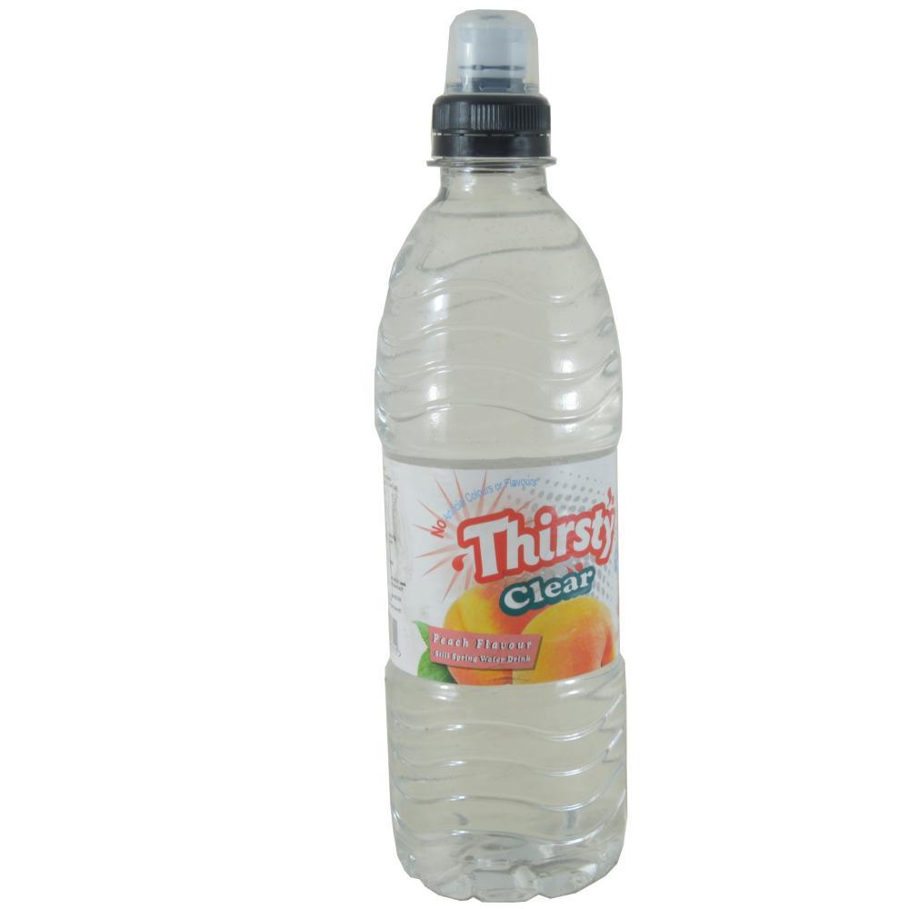 Thirsty Clear Peach Flavour Still Spring Water Drink 500ml