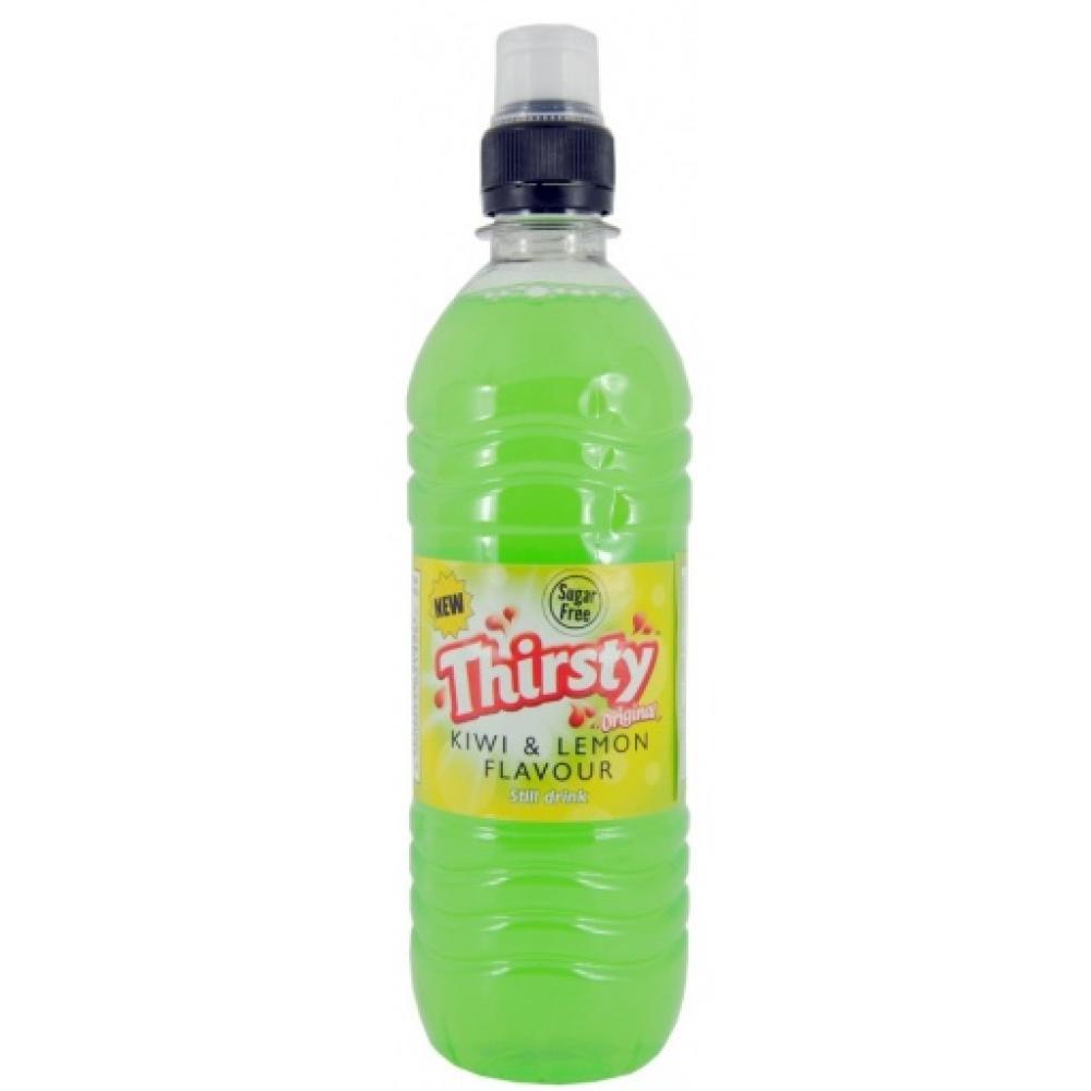 Thirsty Original Kiwi and Lemon Flavour Still Drink 500ml