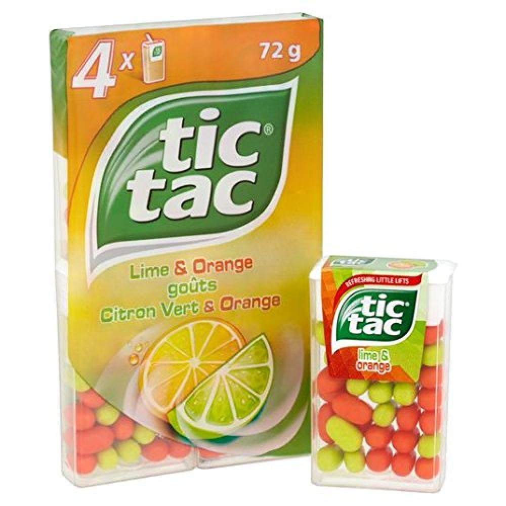 Tic Tac Lime and Orange 4x16g