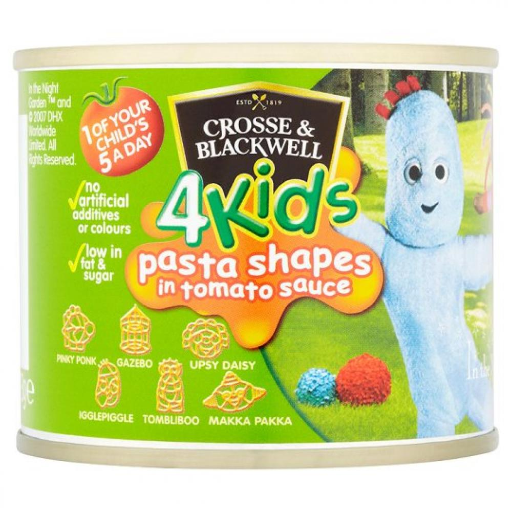 Crosse and Blackwell In The Night Garden Pasta Shapes In Tomato Sauce 213g