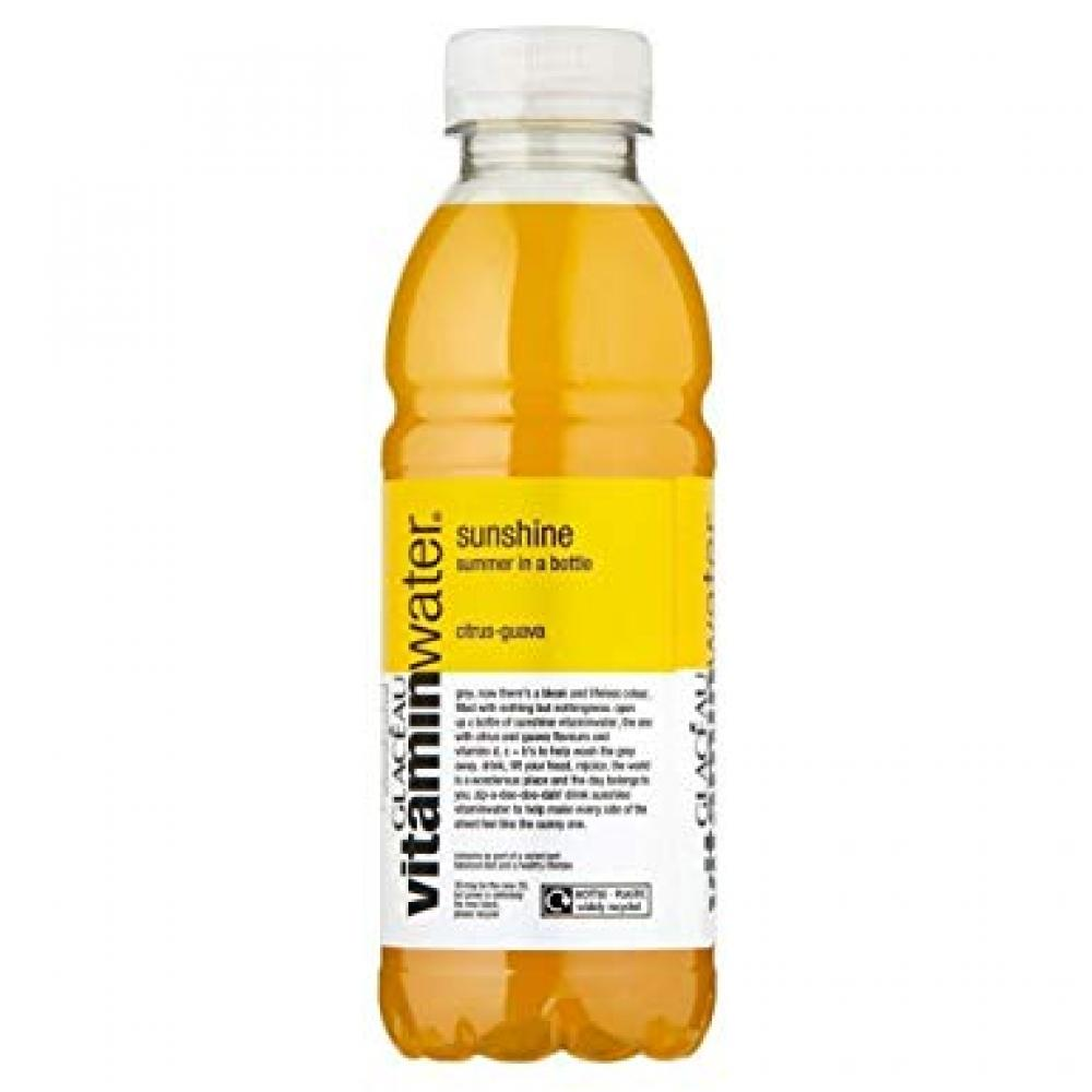 TODAY ONLY  Glaceau Vitamin Water Sunshine Citrus Guava 500ml