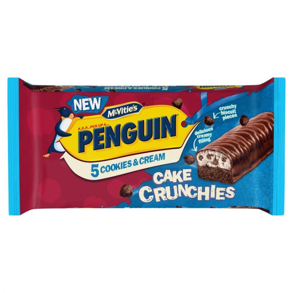 McVities Penguin 5 Cookies and Cream Cake Crunchies