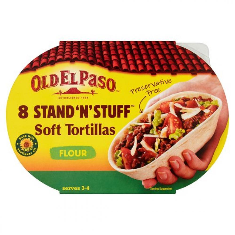 Old El Paso 8 Stand N Stuff Flour Tortillas