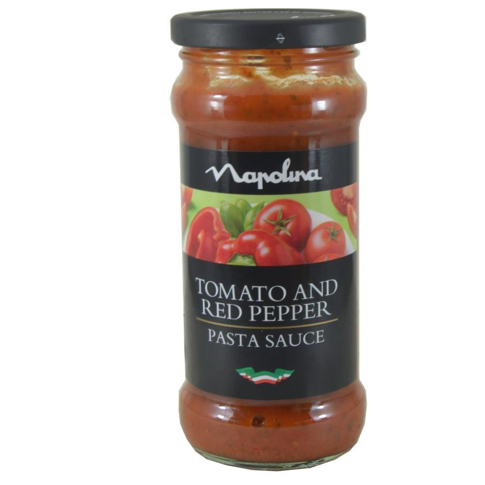 Napolina Tomato and Red Pepper Pasta Sauce 335g