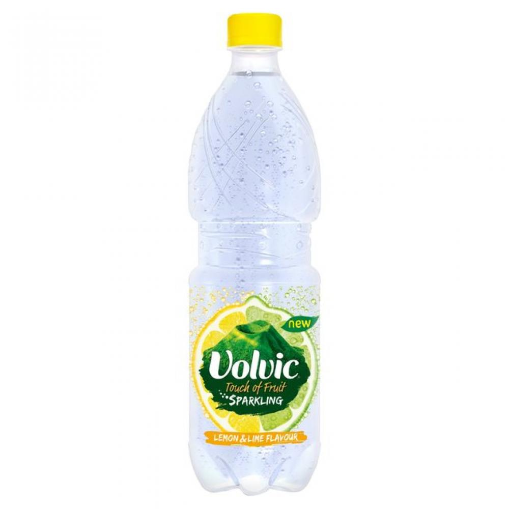 Volvic Touch Of Fruit Sparkling Lemon and Lime Flavour 500ml