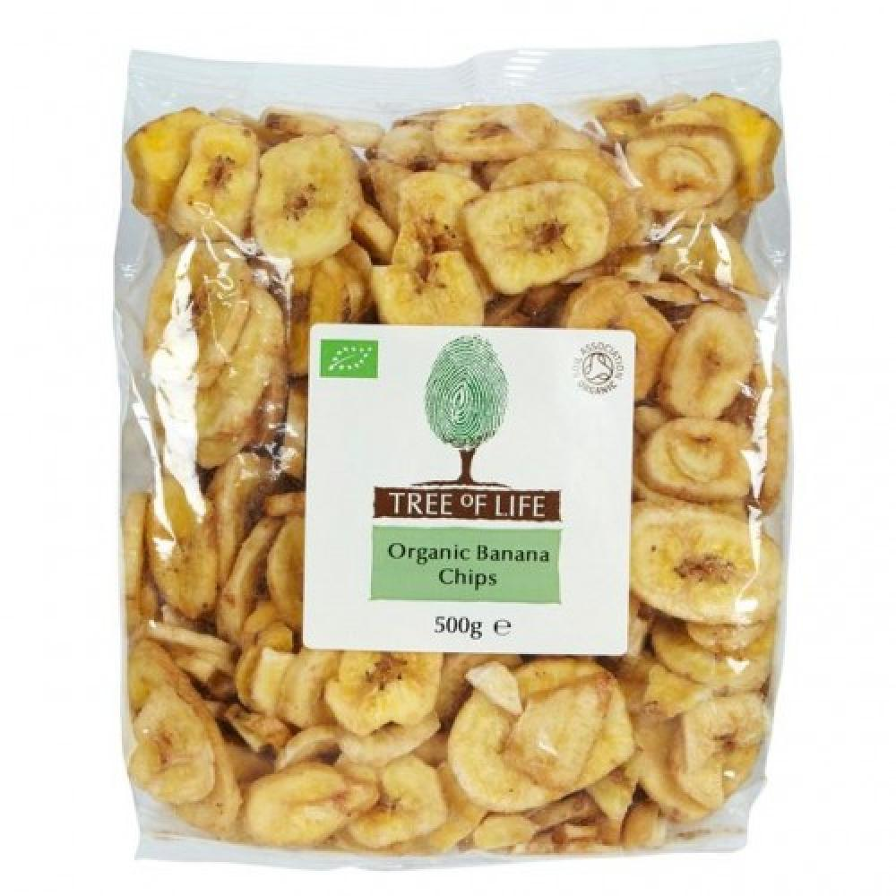 Tree Of Life Banana Chips 500g