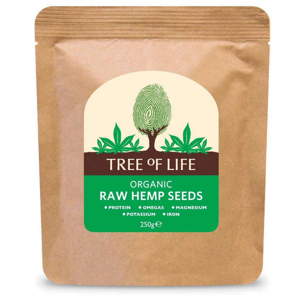 Tree Of Life Organic Raw Hemp Seeds 250g 250g
