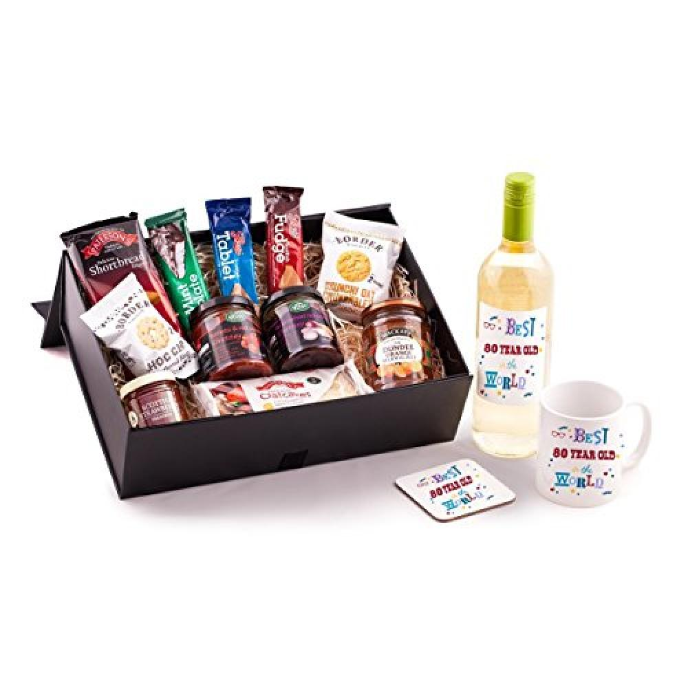 FURTHER REDUCTION  Ukgiftbox 80 Year Old Birthday Hamper