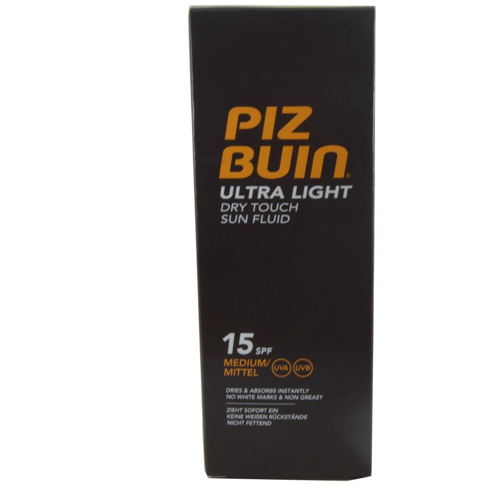 FURTHER REDUCTION  Piz Buin Ultra Light Dry Touch Sun Fluid 15 SPF 150ml