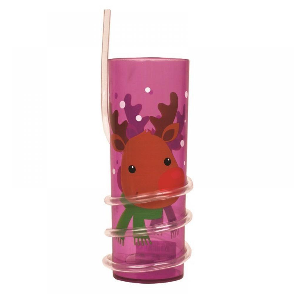 Unbranded Christmas Straw Tumbler Reindeer