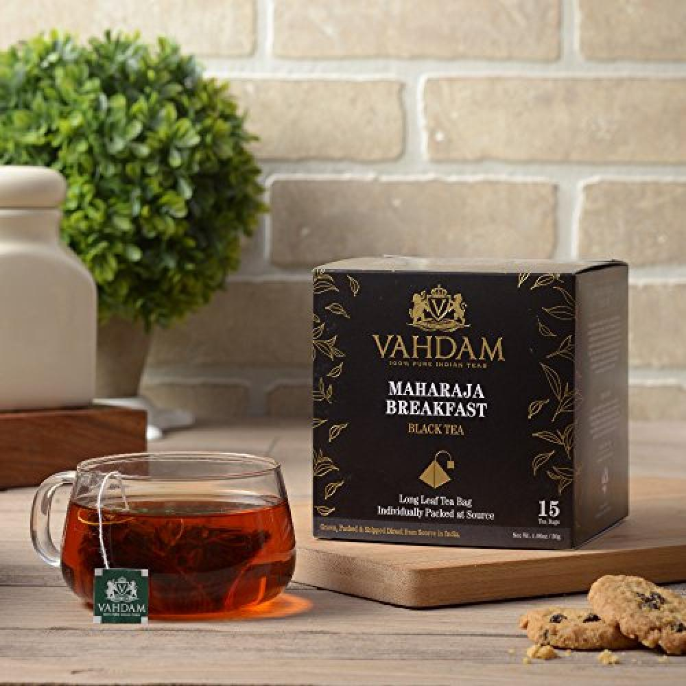 Vahdam Teas English Breakfast Black Tea Leaves15 Tea Bags 30 g
