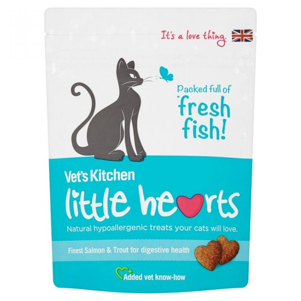 Vets Kitchen Little Hearts Finest Salmon and Trout 60 g