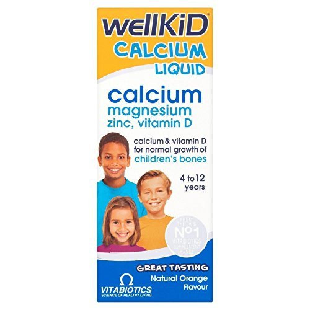 Vitabiotics Wellkid Calcium Liquid Natural Orange flavour 150 ml