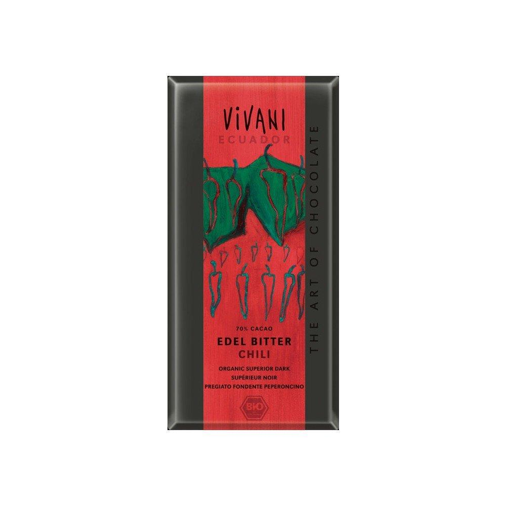 Vivani Organic Superior Dark Chili Chocolate 100 g