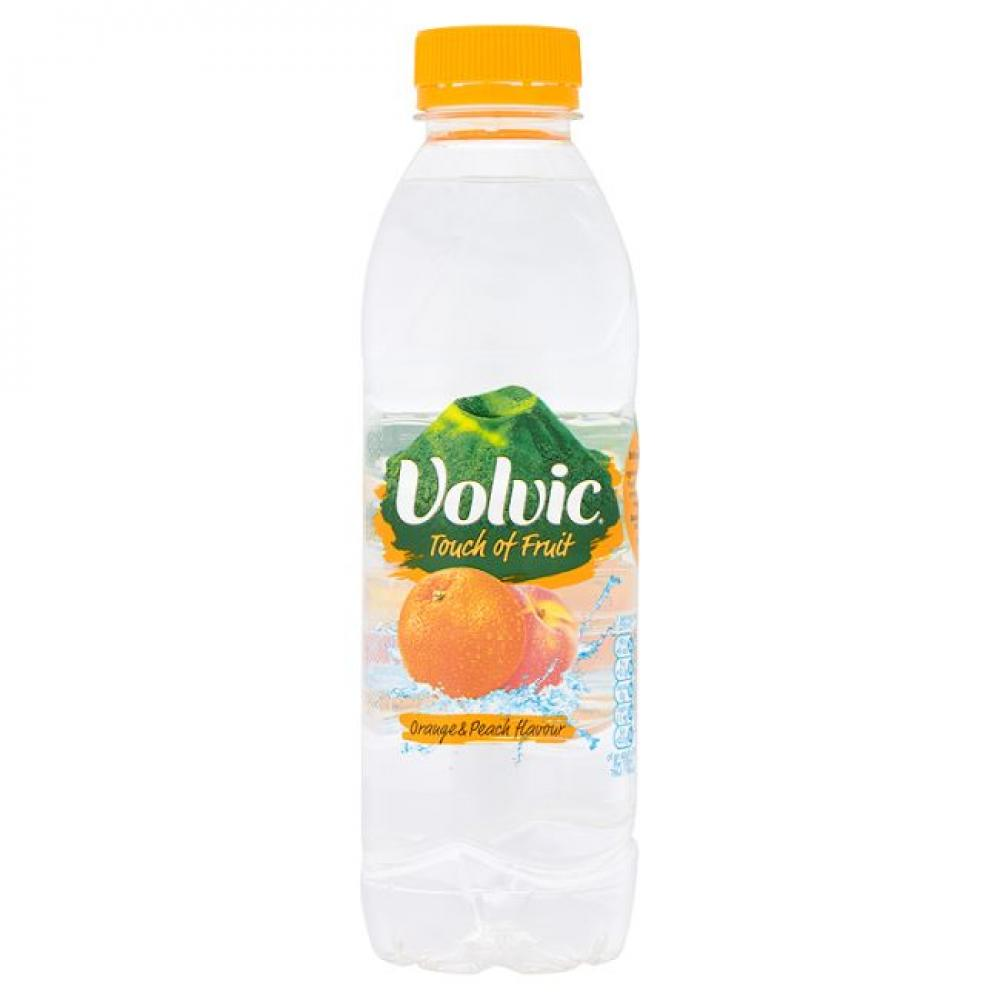 Volvic Touch Of Orange and Peach Flavour 500ml