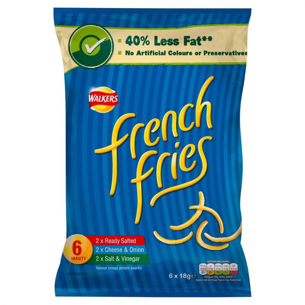 Walkers French Fries 6 Variety Pack 108g 108g
