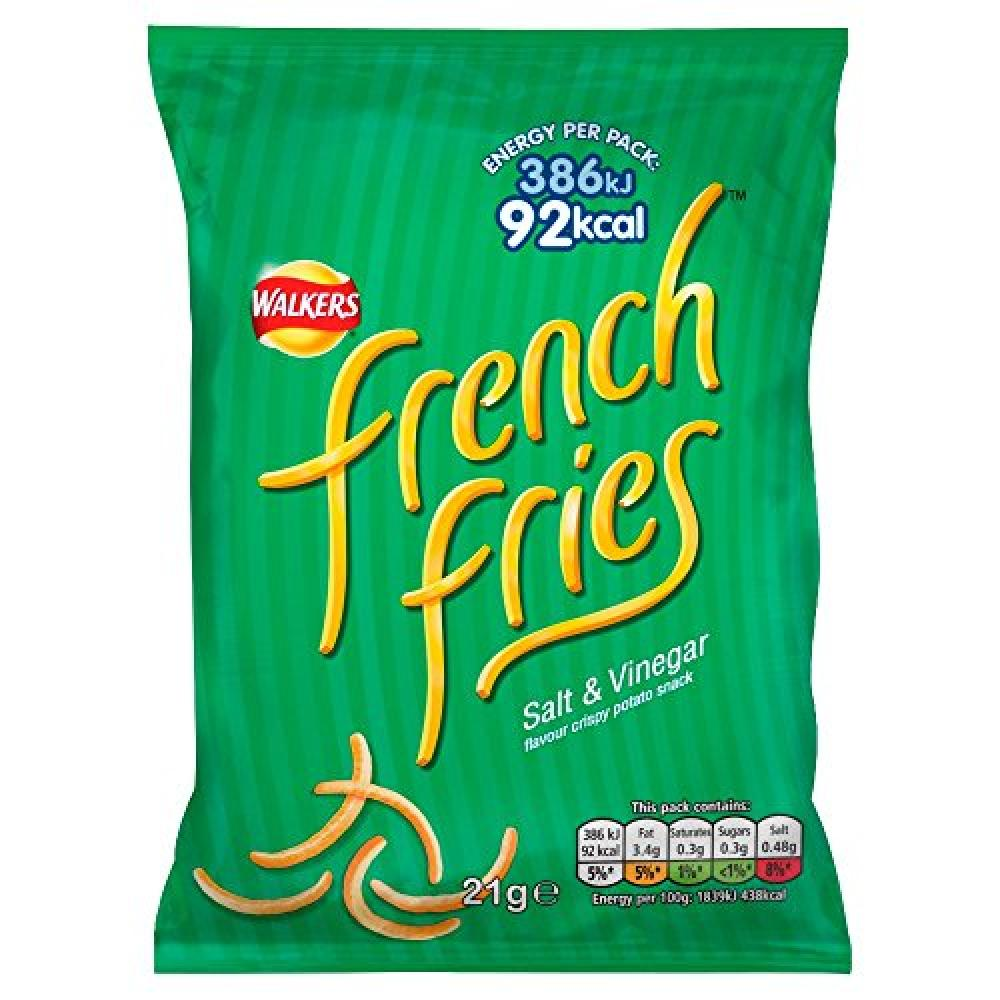 Walkers French Fries Salt and Vinegar Crispy Potato Snack 21 g