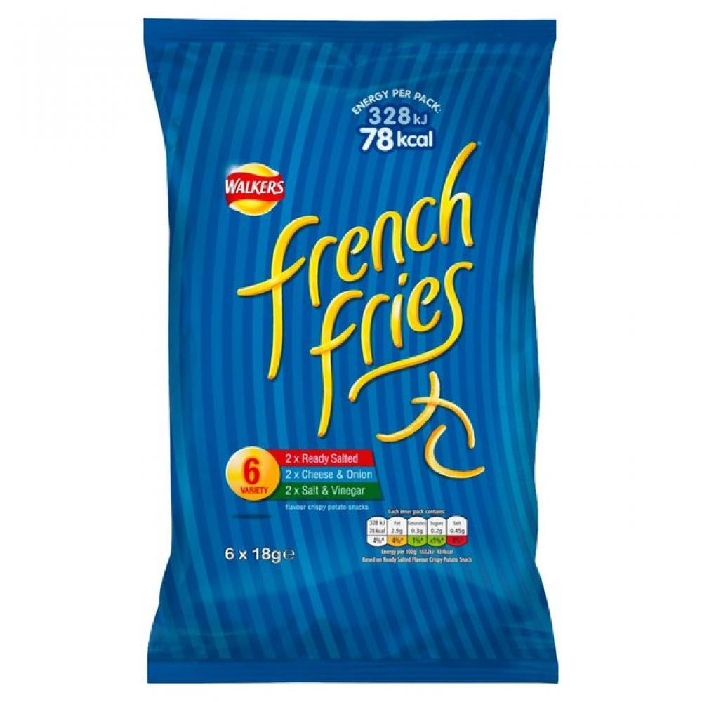 Walkers French Fries Variety Pack 18g x 6