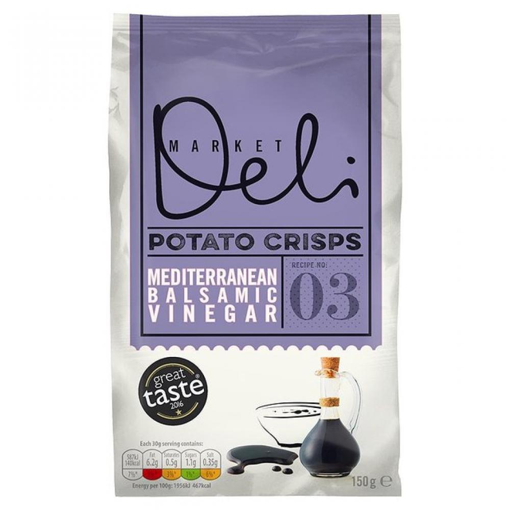 Walkers Market Deli Crisps With Balsamic Vinegar Of Modena Flavour 150g