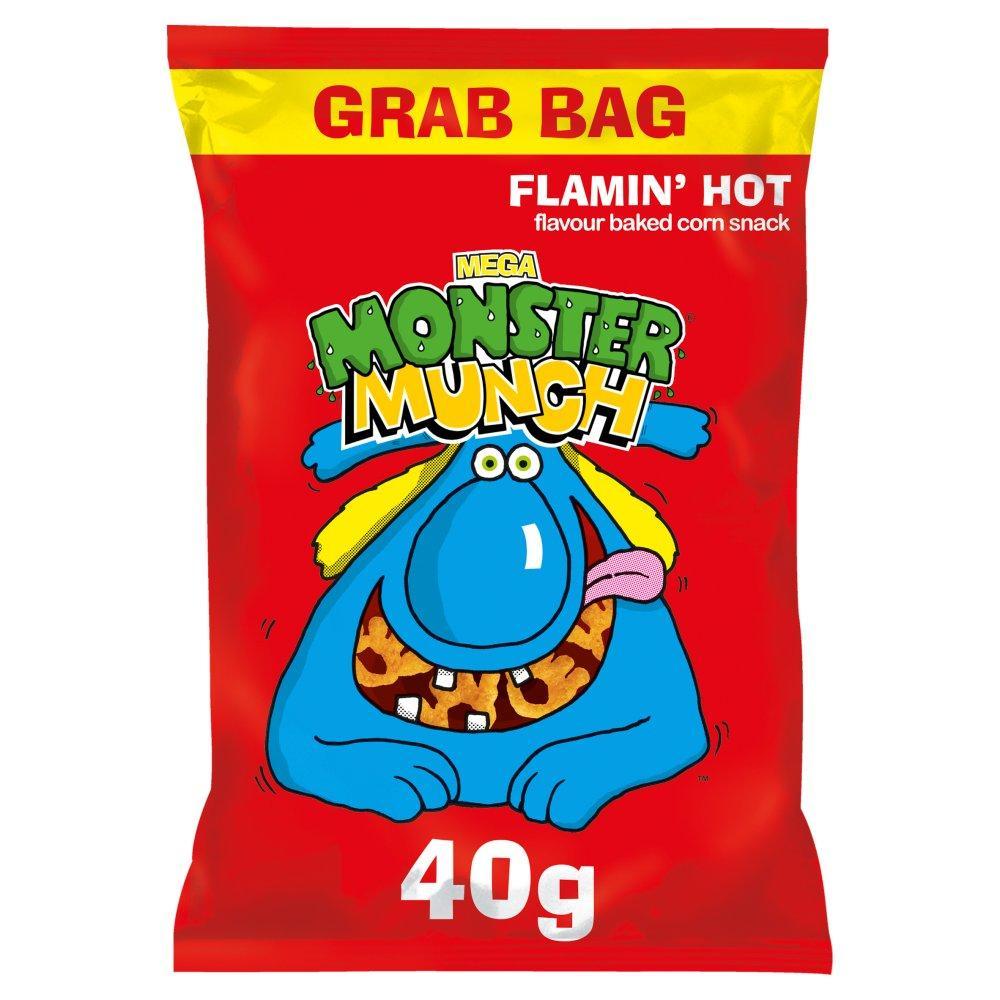 Walkers Mega Monster Munch Flamin Hot 40g