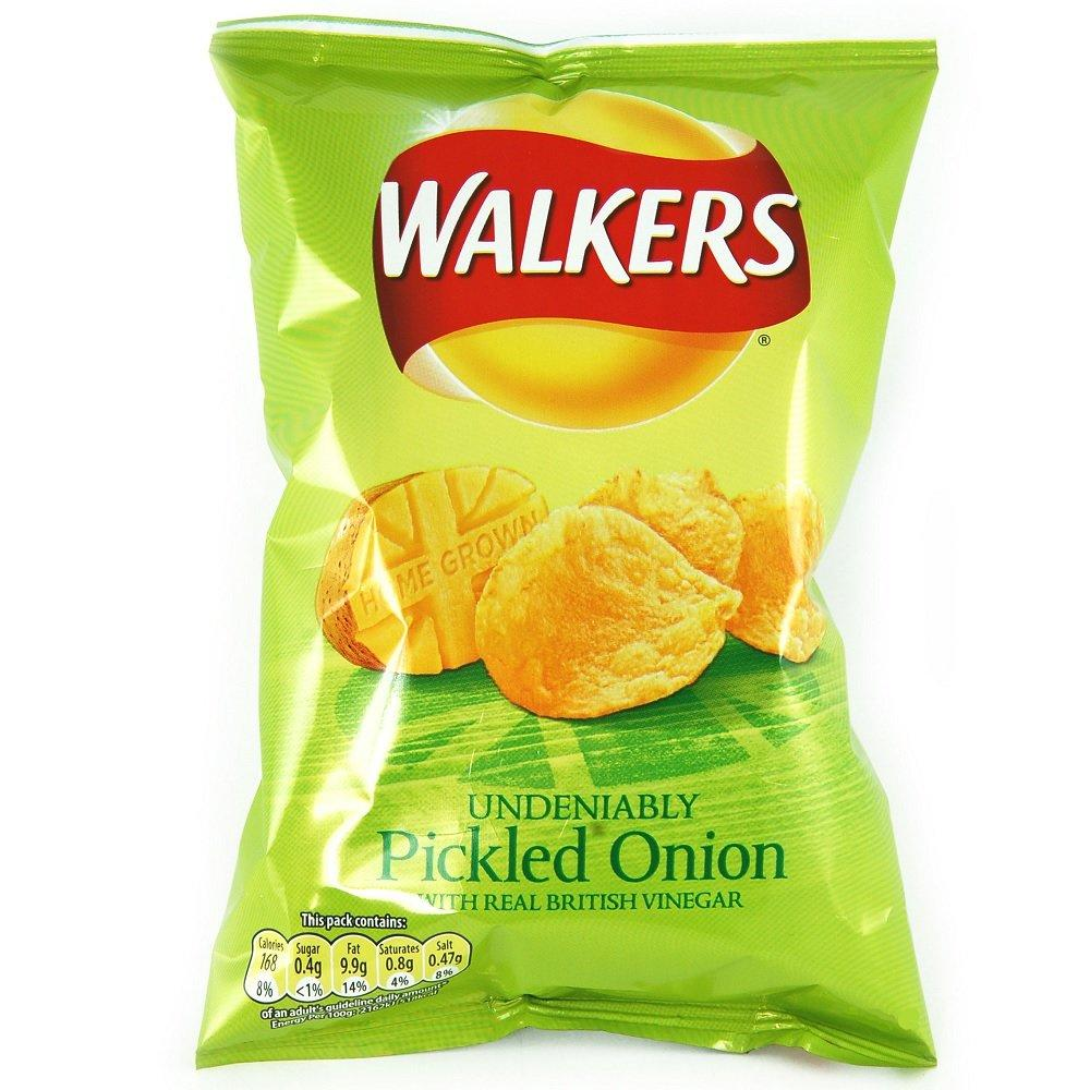 Walkers Pickled Onion Flavour Crisps 50g